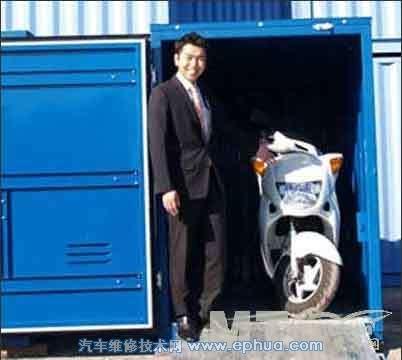 日本推出摩托车防盗集装箱型汽车房